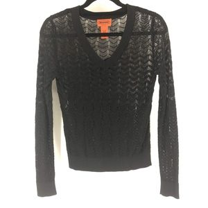 Missoni For Target Sheer Long Sleeve Knit Size Sm
